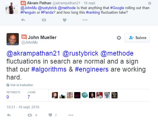 Tweet John Mueller Google